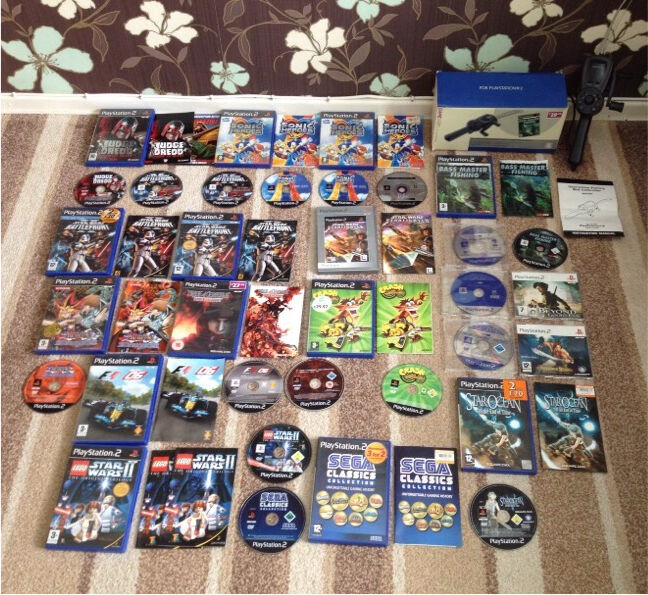 19 games PS2 bundle inc Lego Star Wars battlefront star ocean crash     19 games PS2 bundle inc Lego Star Wars battlefront star ocean crash  bandicoot
