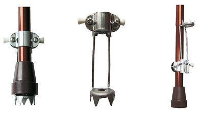 2 x Eiskralle für Gehstützen oder Gehstock, klappbar, Eisstop, Spikes