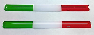 3D Cúpula Pegatinas Banderas Italia Tricolor para Parachoques Casco de Moto