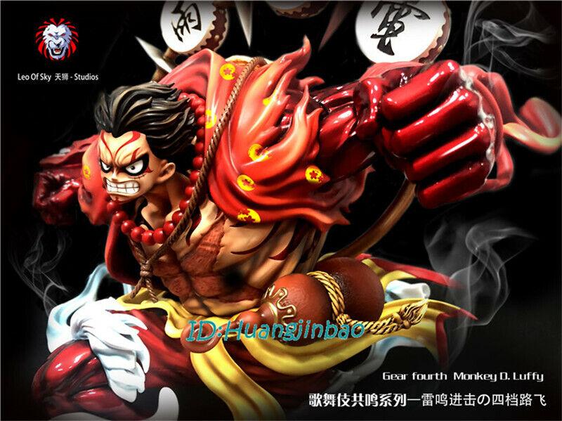 Luffy gear fourth figure (black)series: One Piece Monkey D Luffy Statue Gear Fourth Kabuki Suit ...