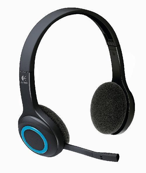 Logitech H600 Wireless Headset schnurlos schwarz-blau Bluetooth / ohne USB-Stick