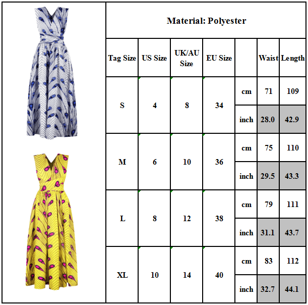 Women Sleeveless Casual Long Dress Cocktail Evening Party African Afro Lady Gown