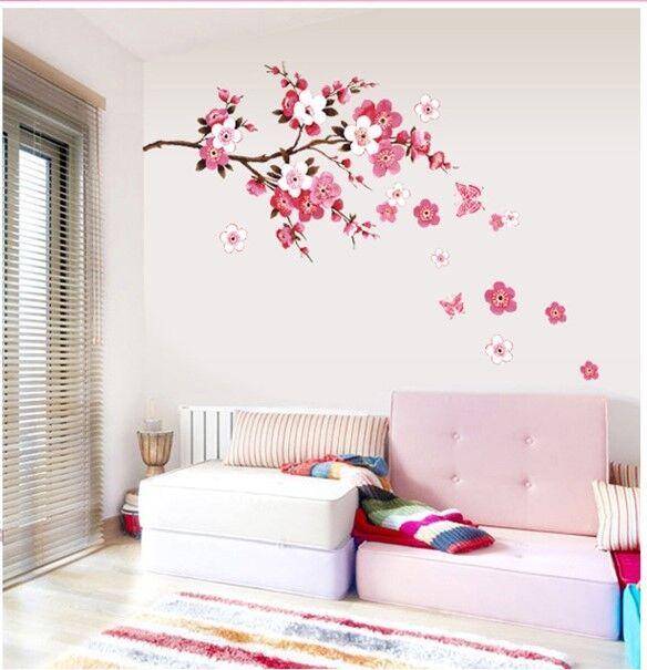 Wandtattoo XL Blume Schmetterling Blumen Wandaufkleber Wandsticker Wohnzimmer