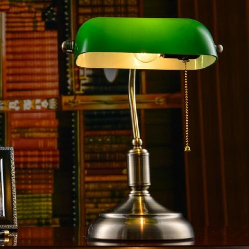 Vintage-Library-Style-Table-Lamp-Bedside-Desk-Light-Home-Shade-Lighting-Glass