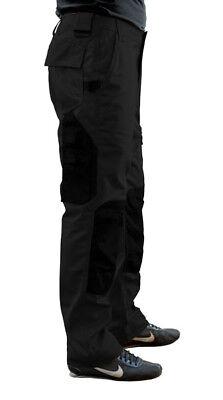 Arbeitshose schwarz Kniepolstertaschen Arbeitskleidung Bundhose Handwerk Maco
