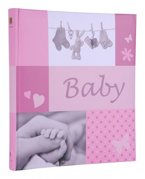 HENZO Babyfotoalbum Mädchen Album Babyalbum Fotoalbum Geschenk z. Geburt Taufe