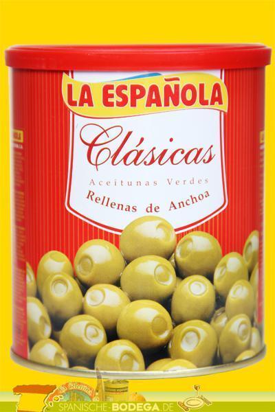 La Espanola Grüne Oliven mit Sardellen Clasicas 01951 -- 600 g (GP 1,37€ /100g.)