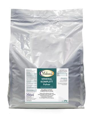 MAKANA Mineralfutter KOMPLETT Mineral Futter Pferde 9 kg PULVER
