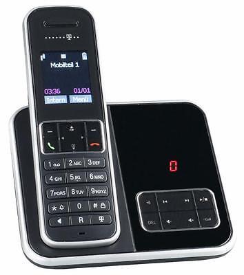 Telekom SINUS A405 Schwarz Schnurlos Telefon Anrufbeantworter Schnurloses DECT