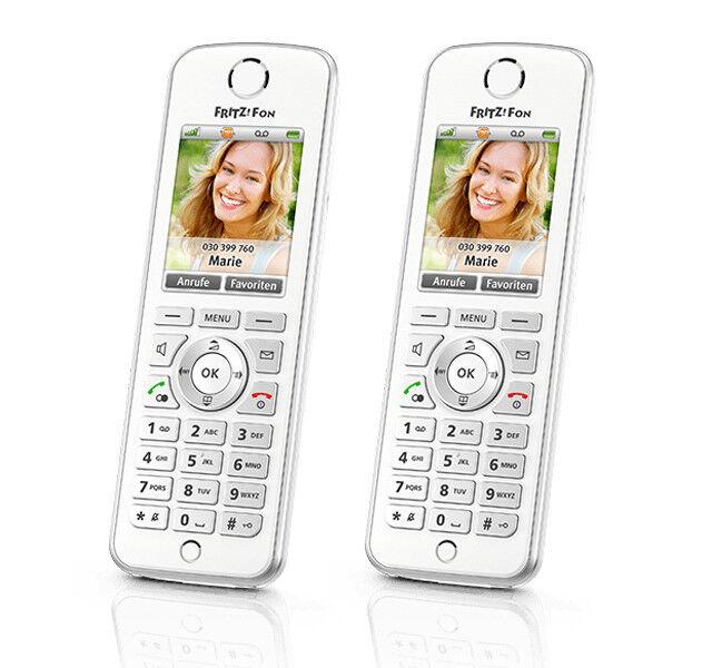 AVM FRITZ Fon C4 Duo VoIP-Telefon Schnurloses Telefon ( DECT ) HD-Qualität