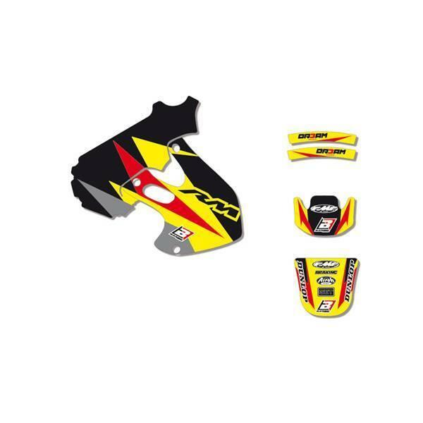 adesivi grafiche moto Suzuki Rm 125 250 1996 1997 1998 1999 2000 Blackbird 2310E