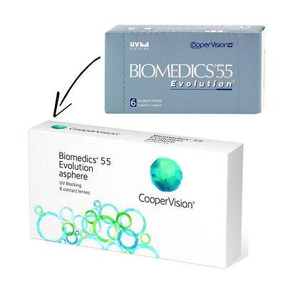 Biomedics 55 Evolution 2 x 6 Monatslinsen  Coopervision  TOP PREIS