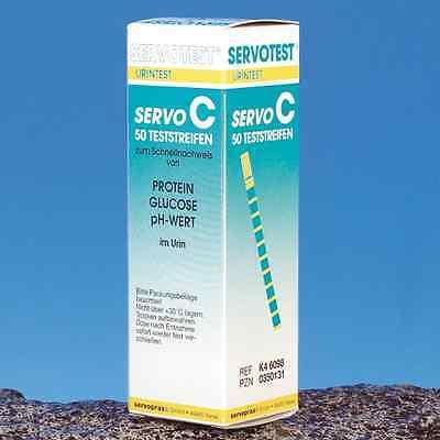 Servotest Diagnose Urin Teststreifen PH, Glucose, Protein, 100 Streifen