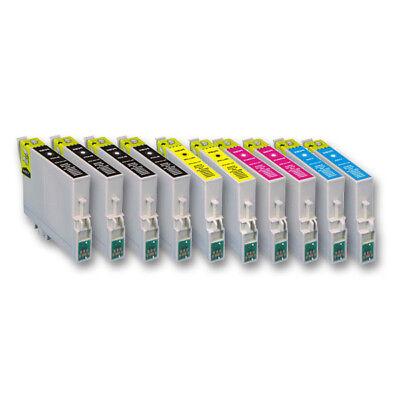 10 Druckerpatronen für EPSON Expression Home XP335 XP340 XP352 XP355 XP440 XP442