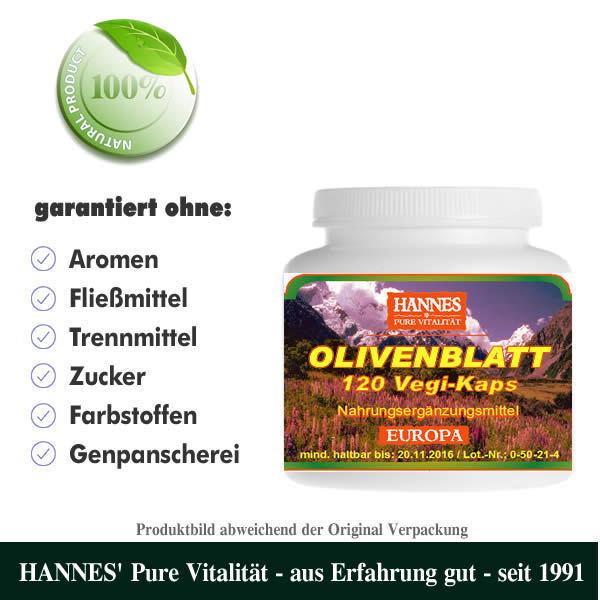 Olivenblatt 120 Vegi-Kaps - Alles muss raus bei HANNES' 70%