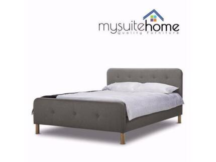 Campbelltown Brayden Fabric Double Queen Size Contemporary Bed Beds Gumtree Australia Area 1162480277