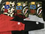 Bape A Bathing Ape Jacket SHARK Head FULL ZIP HOODIE Camo Sweater Coat Clothes