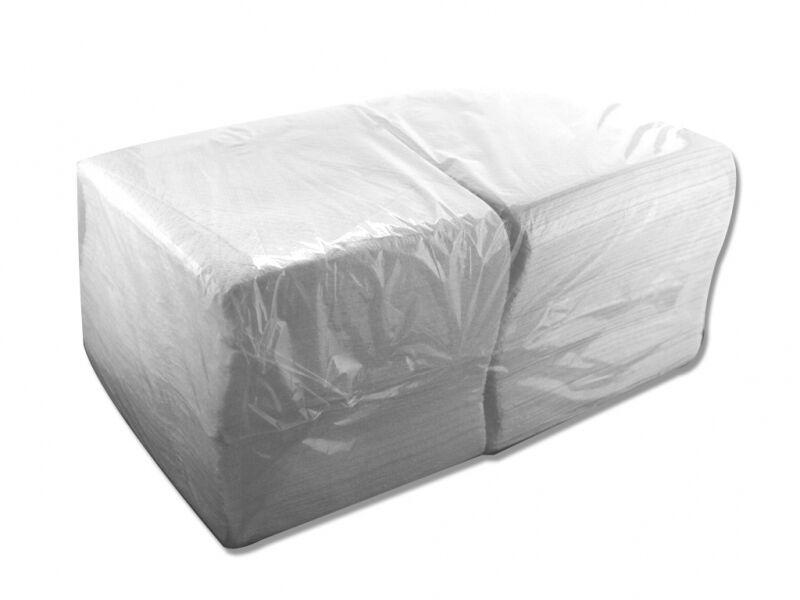 Papierservietten - Servietten weiß 1-lagig - 33x33cm 1/4 Falz - Premium Qualität