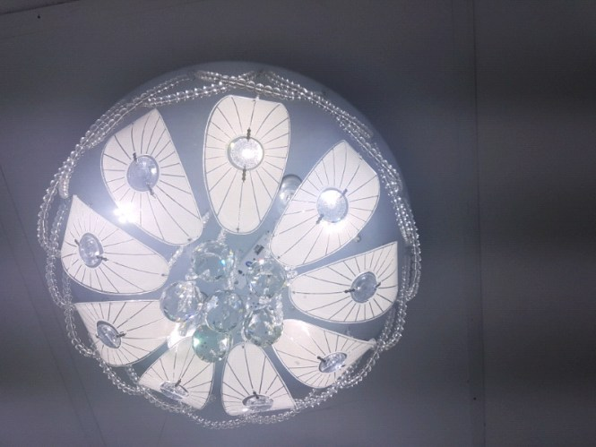 Remote Control Led Chandelier Modern Ceiling Light With Bluetooth Sp