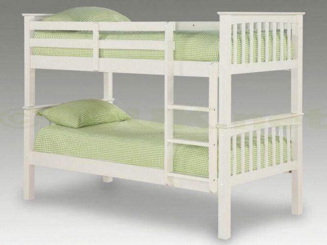 Snow White Soild Wooden Chunky Bunk Bed With X 2 Thick