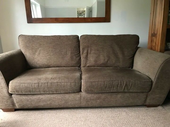 Two Brown Matching Next Sofas 4 Seater And 3
