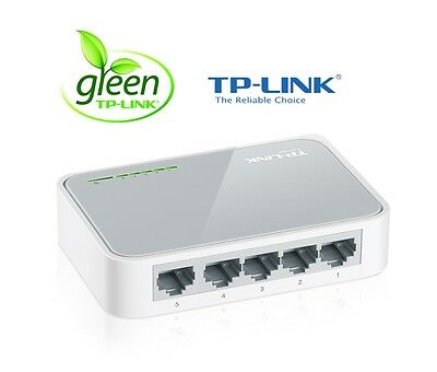 Netzwerk Switch 5 Ports TP-Link 10/100 Mbit TL-SF1005D DSL LAN Fast Ethernet HUB