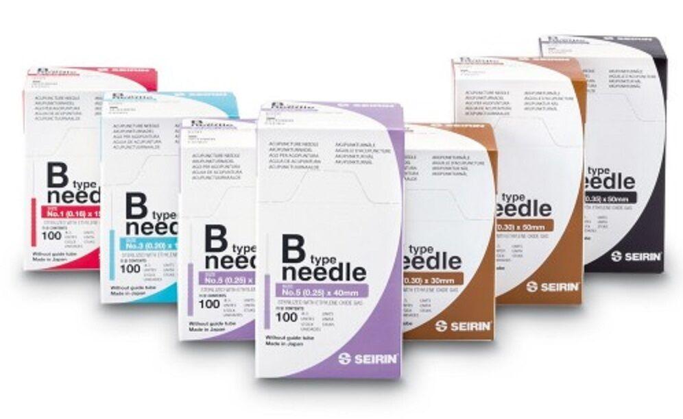 SEIRIN® B-Type Akupunkturnadeln, Akupunktur, diverse Größen, je 100 Stück