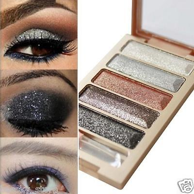 5 Farben Pro Glitzer Lidschatten Party Kosmetik Make-up Palette Matt Set