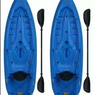 Lifetime Lotus 80 Sit-On-Top Kayak - 2 Pack (Paddles Included)