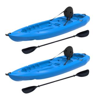 Lifetime Lotus 80 - 2PACK - Sit-On-Top Kayak - (Paddles Included) Green