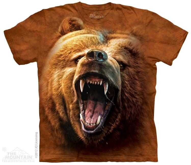 New The Mountain Grizzly Bear Growl T Shirt Ebay