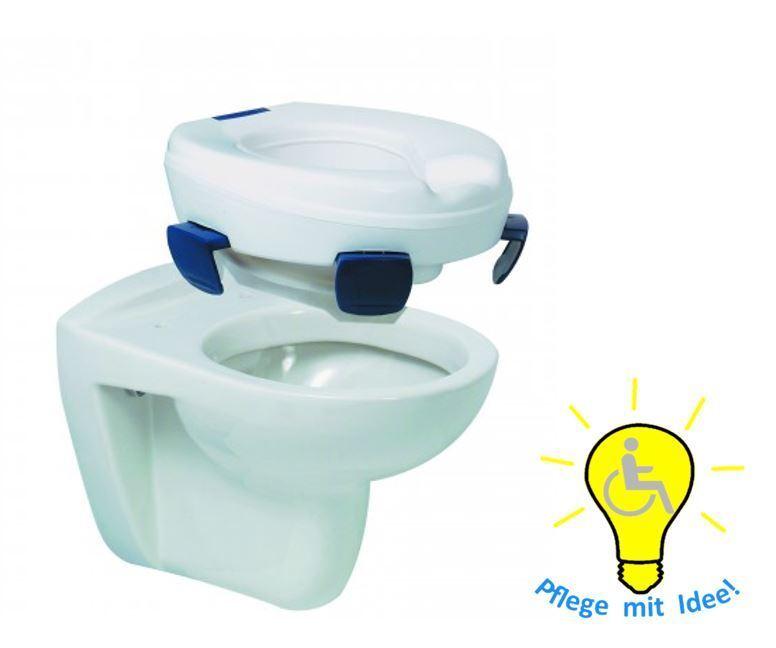 Toilettensitzerhöhung Clipper II mit Clips zum Befestigen 10 cm hoch