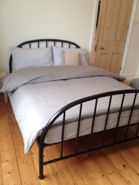Fabulous Habitat Black Metal Double Bed Frame Free Ikea