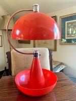 Mid Century Atomic Orange Lamp Vintage Retro