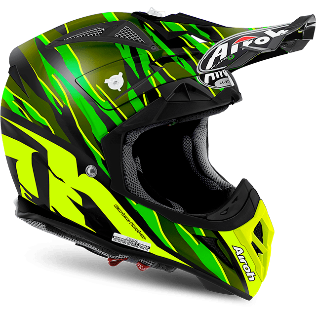 Casco moto cross enduro quad Airoh Aviator 2.2 Threat 2017 verde opaco Misura L