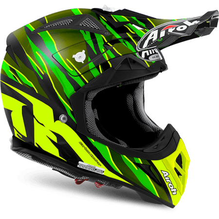 Casco moto cross enduro quad Airoh Aviator 2.2 Threat 2017 verde opaco Misura L