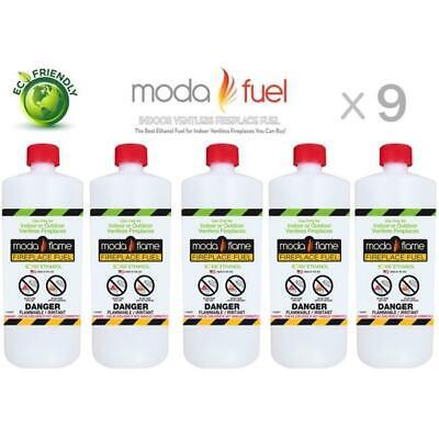 Moda Flame 9PKPHC Moda Flame 1 Quart Bio Ethanol Fireplace Fuel 9 Bottles