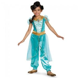 Disguise Princess Jasmine Deluxe Aladdin Disney Girls Halloween Costume 98494