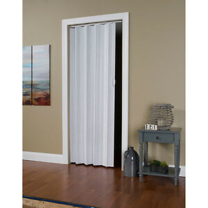 "Via White Mist 24""-36""x80"" Folding Door"
