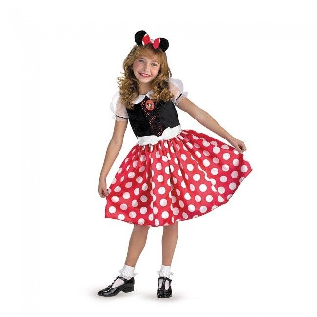 Disguise Mickey Minnie Mouse Cartoon Classic Child Girls Halloween Costume 5036