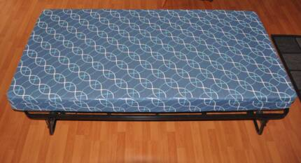 Portable Folding Guest Or Kids Single Bed Mattress Included