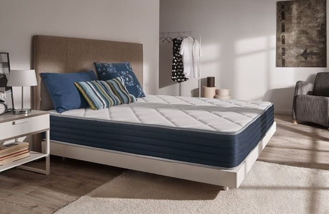 Naturalex Royalvisco Memory Foam Mattress 140cm X 200cm 7 Zone Blue