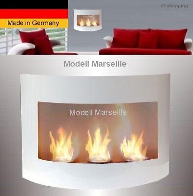 Kamin Marseille-Weiss für Brenngelkamin ethanolkamin bioethanol