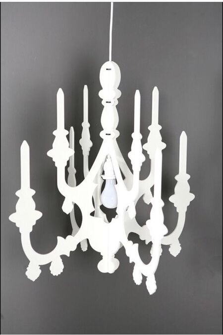 Urban Outers Cut Out Chandelier Celling Light Lighting Wooden White Modern Stylish Design