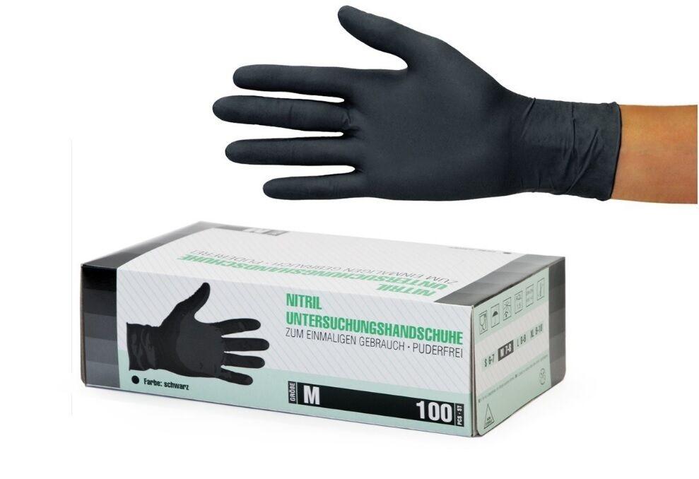 Einweg Einmal Handschuhe Nitril Vinyl Latex puderfrei S M L XL Weiß Lila Schwarz
