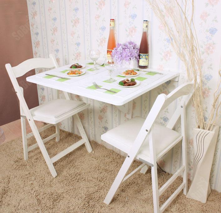 SoBuy® Wandklapptisch,Holztisch, Esstisch 75x60cm, weiß,FWT01-W,Ohne Stuhl !!