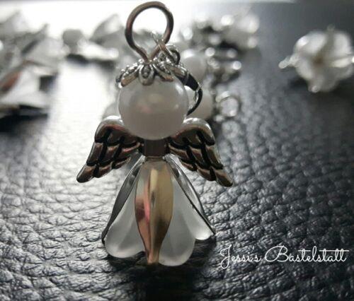 10 Schutzengel in weißen Kleider, Gastgeschenk, Hochzeit,  Kommunion