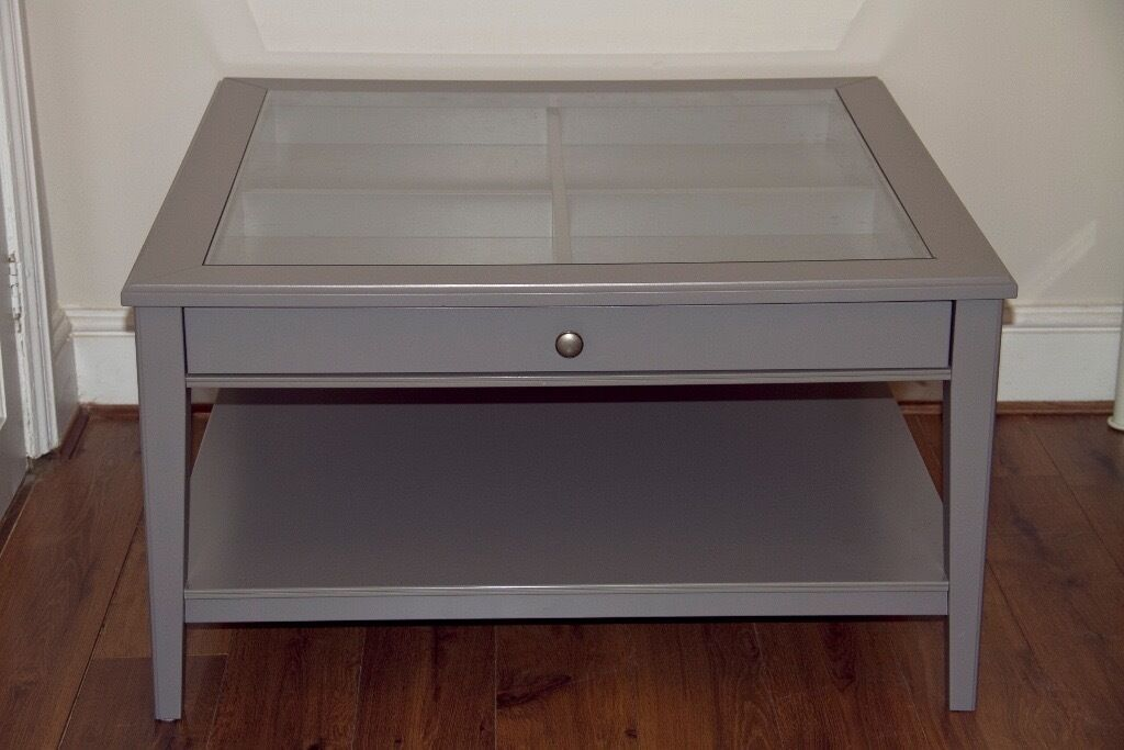 IKEA Grey Wood And Glass Top Coffee Table Liatorp In Bournemouth Dorset Gumtree