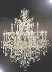 Maria Theresa Swarovski Crystal Trimmed Chandelier Lighting H30