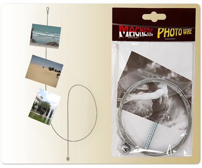 Fotoseil 190 cm 12 Magneten Bilderseil Magnetseil Fotohalter Bilderhalter